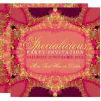 Specialicious Party Pink Yellow Invitation