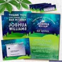 Great Outdoors Nature Themed Bar Mitzvah Invitation Suite
