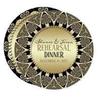 Tribal Sun Rehearsal Dinner Invitation Round