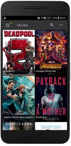 list of available movies in showbox