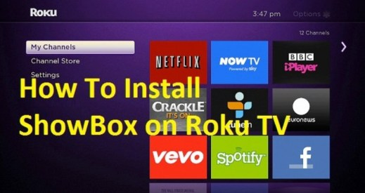 installation of showbox on roku tv