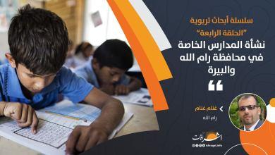 Photo of نشأة المدارس الخاصة في محافظة رام الله والبيرة