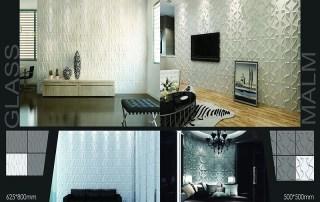 Wallpaper dinding per roll memiliki