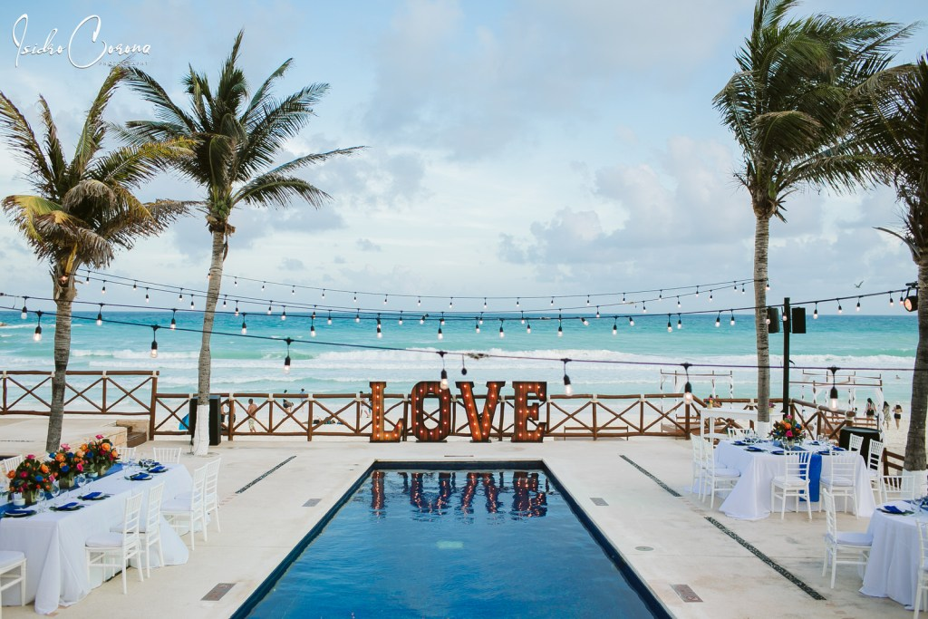 Destination Wedding at Mandala Beach Mexico Cancun
