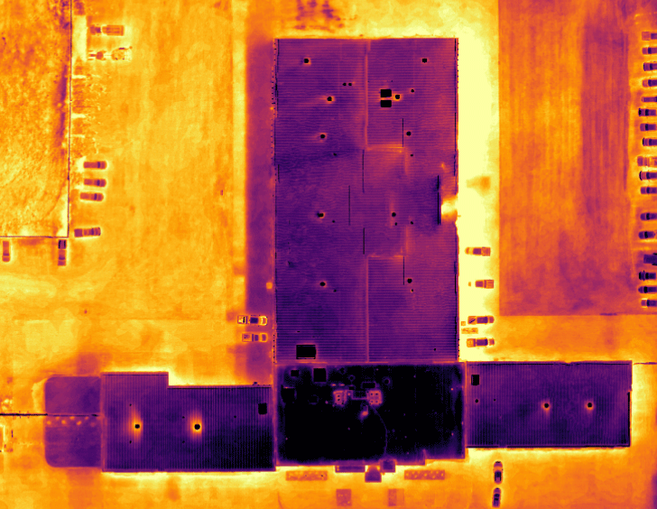 McKenzie County Public Works Building Thermal Image