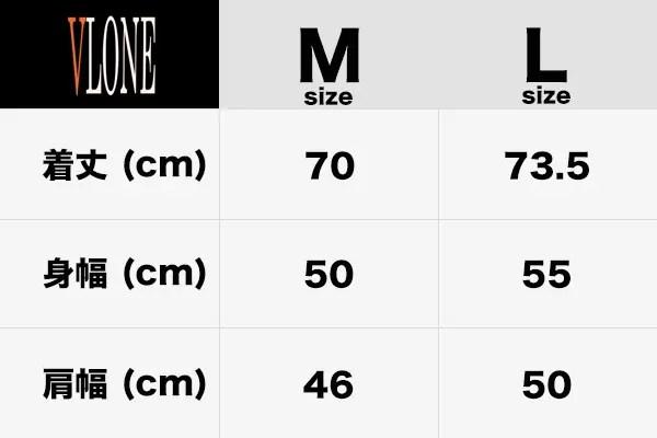 VLONE Tシャツサイズ表