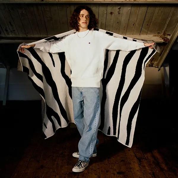 ゼブラ柄 毛布
