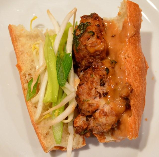 Asian Meatball Subs With Hoisin Mayonnaise