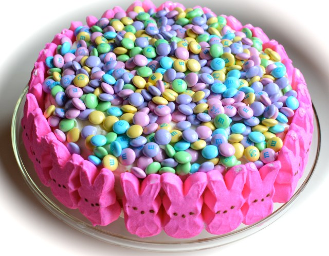 Bunny Peeps M&M Cake