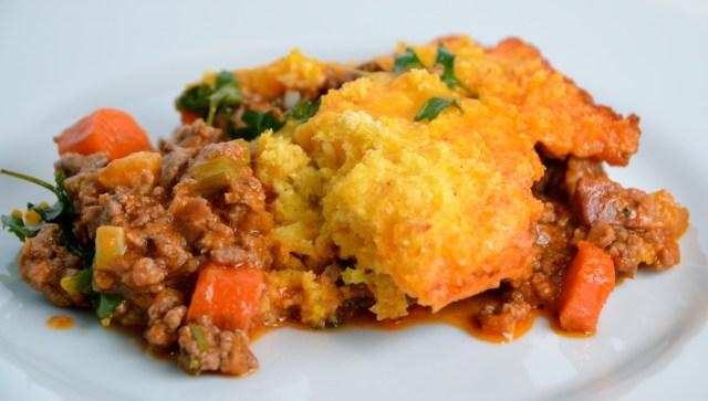 Brazilian Ground Beef And Creamy Corn Pie