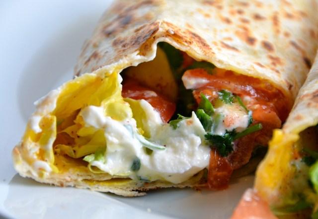Spicy Egg Wrap