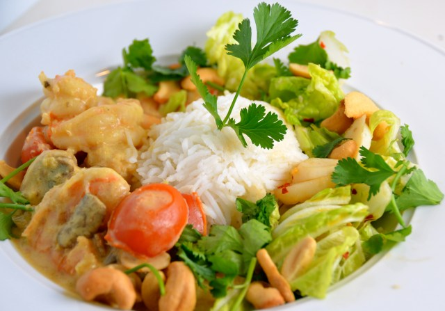 Thai Shrimp With Crunchy Asian Coleslaw