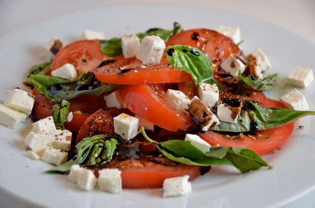 Tomato And Feta Salad With Sticky Balsamic Dressing