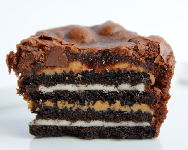 Insane Oreo Peanut Butter Brownie Cupcake