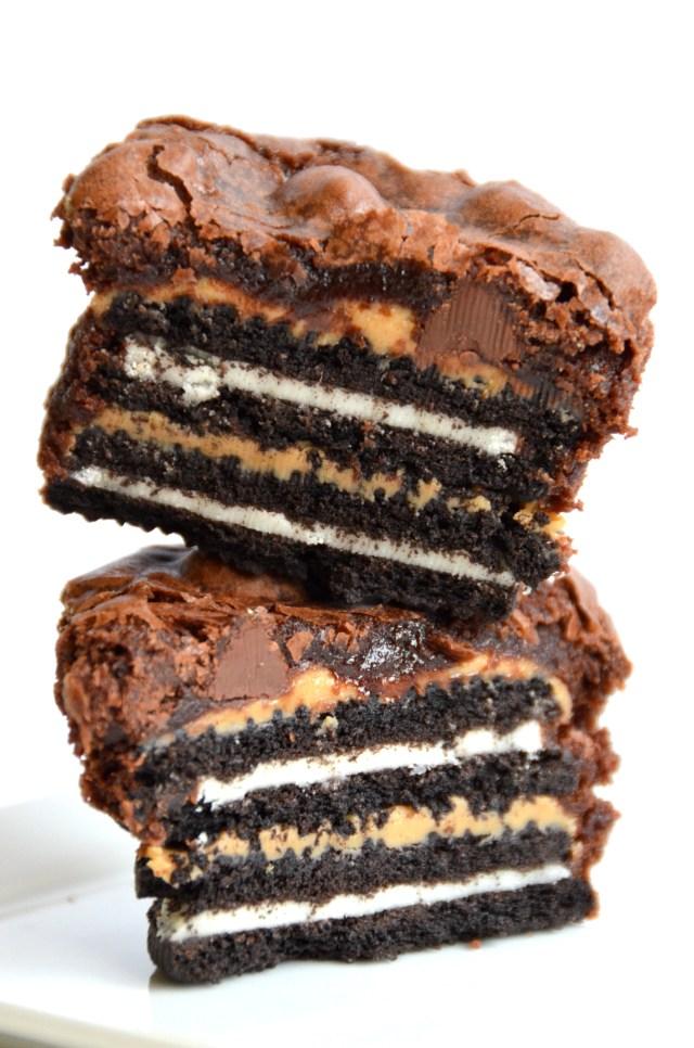 Insane Oreo Peanut Butter Brownie Cupcake