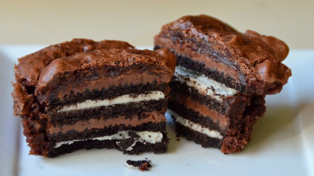 Insane Oreo Nutella Brownie Cupcake
