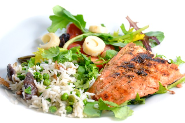 Cuban-Style Grilled Salmon With Summer Rice Salad
