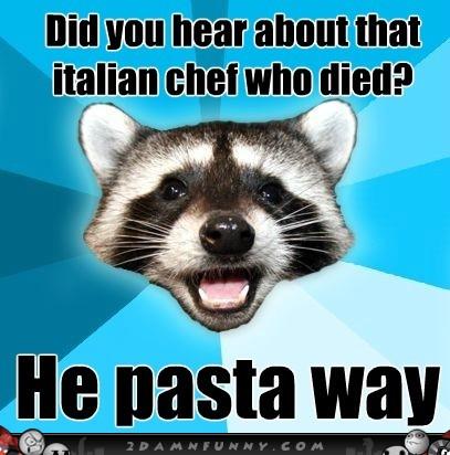 Raccoon-Puns-Meme-on-The-Late-Italian-Chef