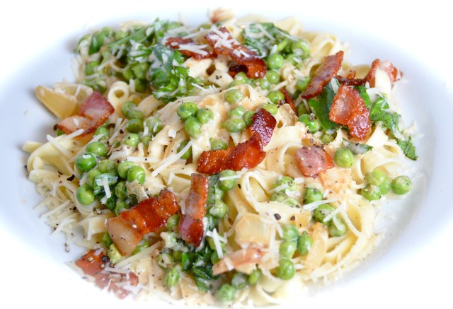 Tagliatelle With Bacon And Gorgonzola