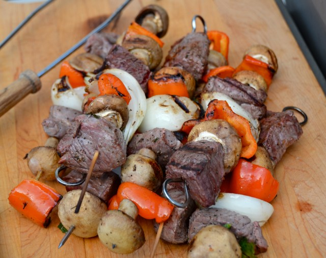 Lamb And Beef Kabobs With Cilantro Potatoes