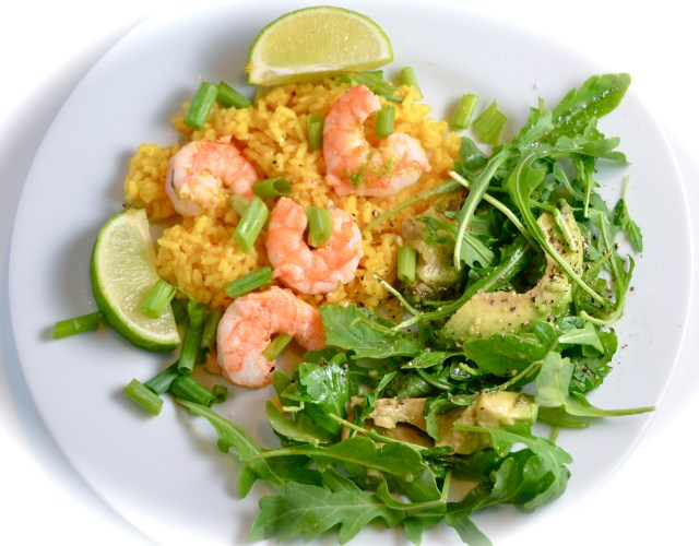 Sautéed Margarita Shrimp With Avocado Arugula Salad
