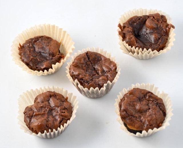 Insane Oreo Peanut Butter Brownie Mini Cupcakes