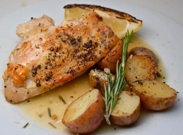 Chicken With Roasted Lemon And Rosemary Sauce