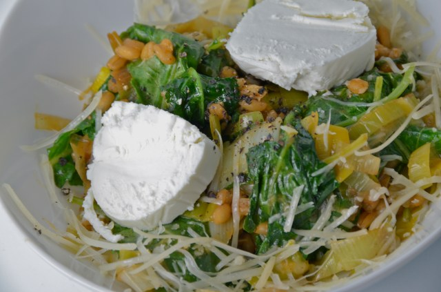 Risotto-Style Barley With Kale, Goat Cheese And Parmesan