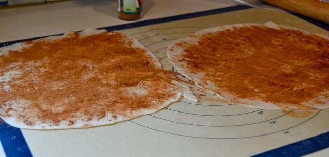 pie dough with cinnamon