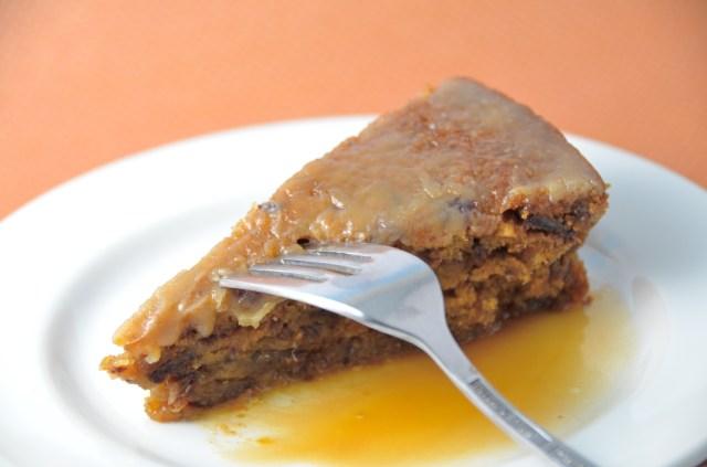 Sticky Toffee Pudding With Bourbon Glaze