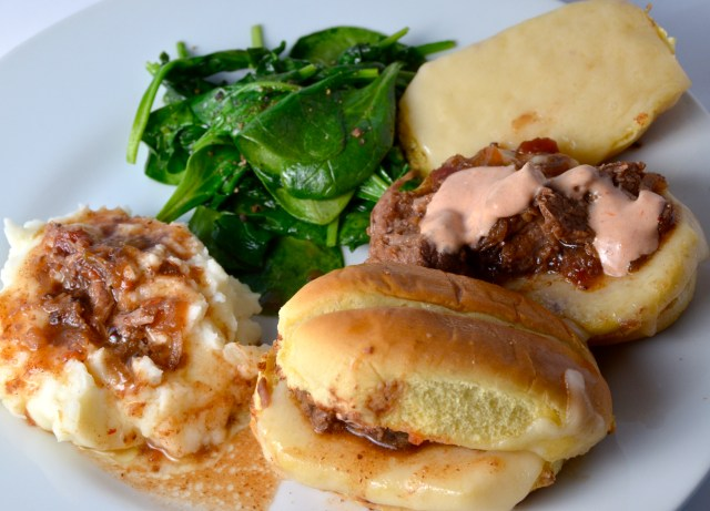Slow Cooker Three Envelope Pot Roast Sliders