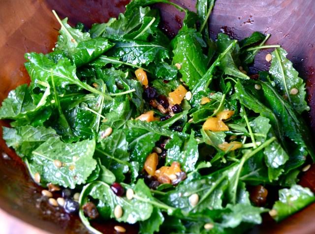 Kale Salad With Chutney Dressing