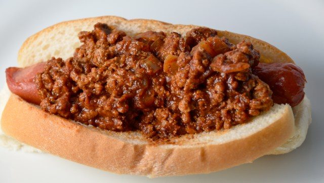 Roasted Hot Dogs With Old-Time Beef Sauce