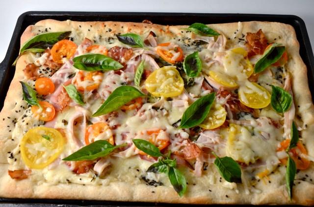 Deluxe Turkey Club Pizza