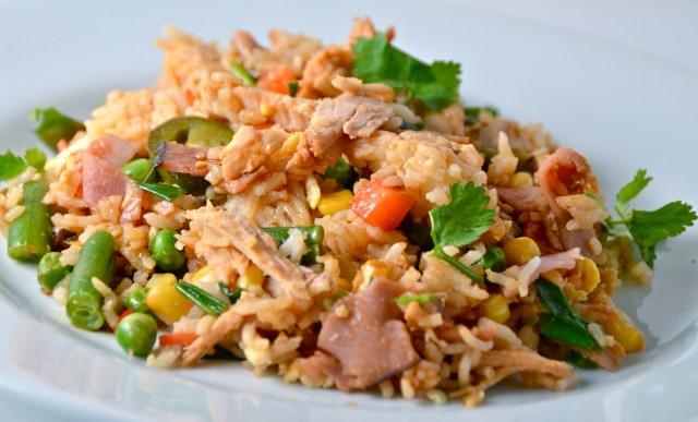 Speedy Spicy Leftover Turkey Fried Rice