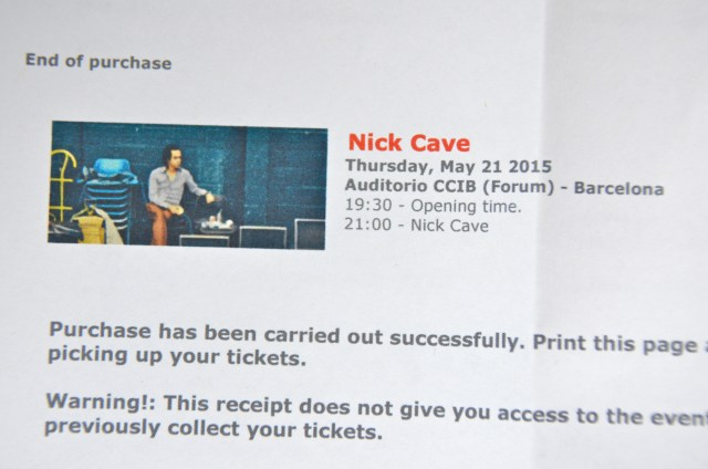 Nick Cave tix