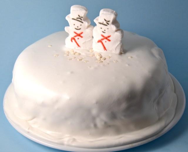 Christmas Snow Globe Cake