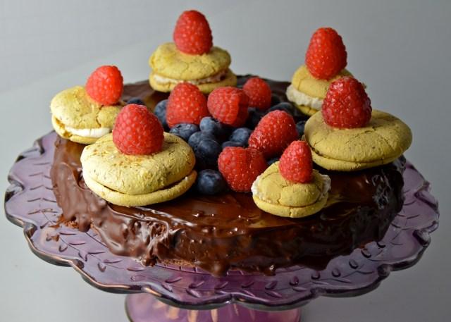 Fallen-For-Chocolate Torte With Lemon Meringue Pie Macarons