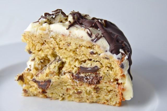 Banana Chocolate Chunk Cake With Rum Cream Cheese Icing