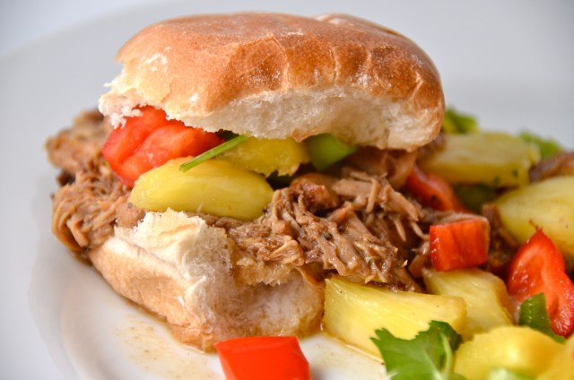 Jamaican Jerk Chicken Sliders With Pineapple Salsa