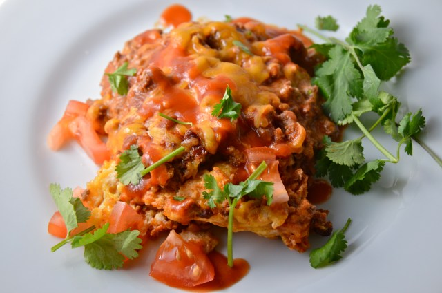 Impossible Beef Enchilada Pie