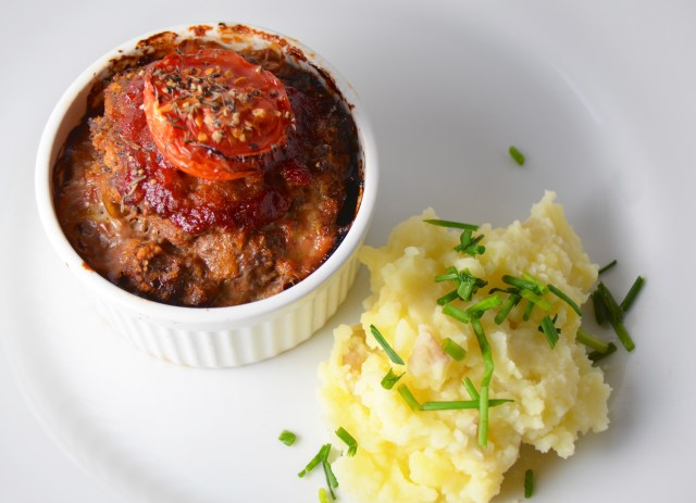 Mini Meatloaves With Chive Mash