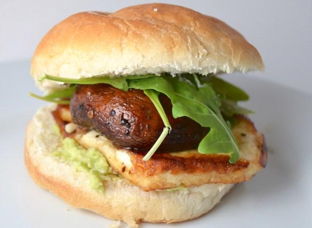 Mushroom And Halloumi Burgers