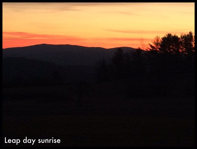 leap day sunrise