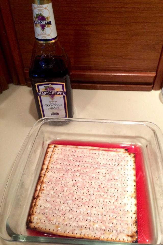Drunken Passover Grilled Cheese