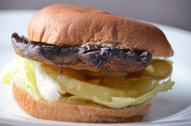 Vegan Hawaiian Portobello Burgers