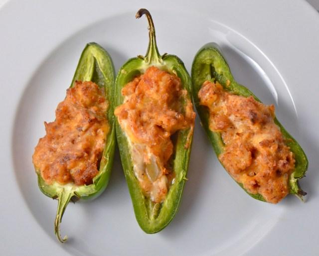 chicken enchilada stuffed jalapeños