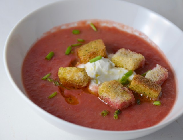 Beet Soup With Crème Fraîche And Chives