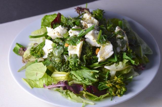 Salad With Broccolini, Peas And Mozzarella