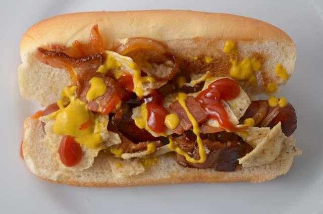 Spicy Bacon Hot Dog